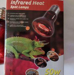 Lampă IR pentru reptile