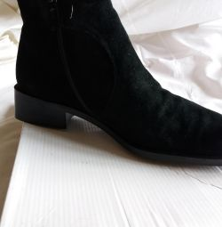 SHOES BLACK LEATHER NAT, LIE, TOP SUEDE