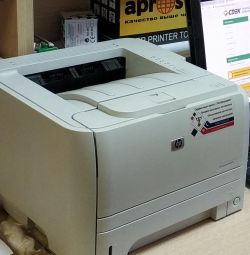 Used hp p2035 laser printer and 2 cartridges