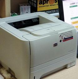 Χρησιμοποιημένος εκτυπωτής laser hp p2035 και 2 κασέτες