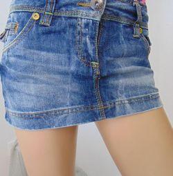 Спідниця джинсова міні