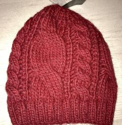 Winter cap large knit new