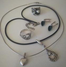 Кольца, серьги.....(серебро)