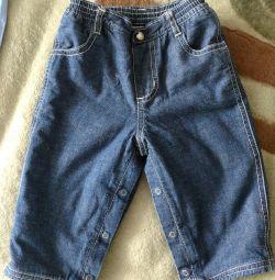 Тeплые джинсы