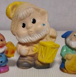 Rubber toy USSR Dwarf with Lantern Kids
