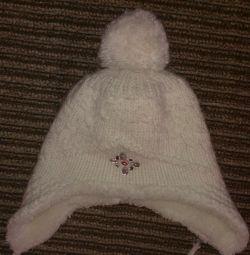Зимняя шапка на девочку 7-10 лет