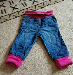 Warmed jeans at 68cm