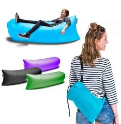 Inflatable sofa Lamzac (Lamzak) with a pocket + gift