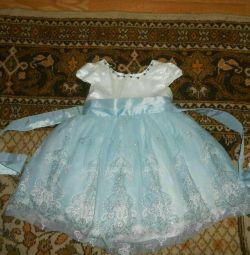 Fluffy dress .
