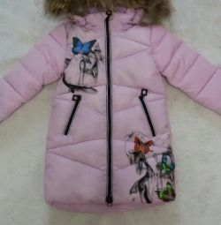 Down jacket-coat for girl (new)