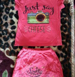 T-shirt, skirt