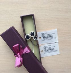 Set of earrings + ring (silver)