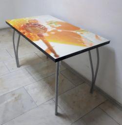Стол кухонный с фотопечатью мeд