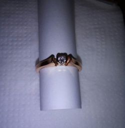 Ring with diamond 15.5-16 size