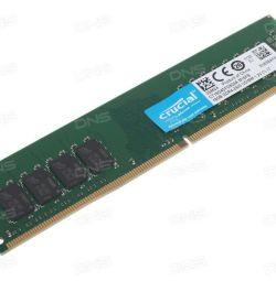 Модуль пам'яті CRUCIAL DDR4 - 16Гб 2400