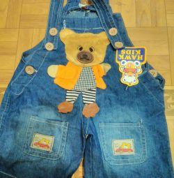 Jeans salopete 80-86 pp