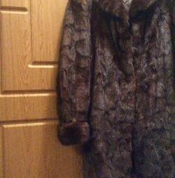 Νέο ιταλικό παλτό γούνας