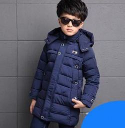 The jacket for the boy of ABC the size is 120 blue