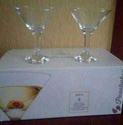 Новые бокалы для мартини 6шт.