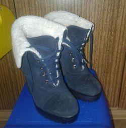 Μπότες από φυσικό σουέτ