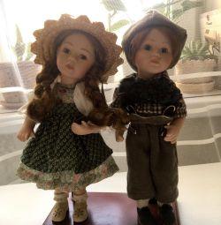 Пара фарфоровых кукол,подарок