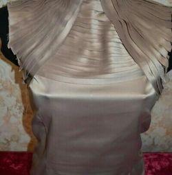 Satin blouse-sleeveless shirt