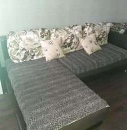 Sofa with ottoman + chair bed