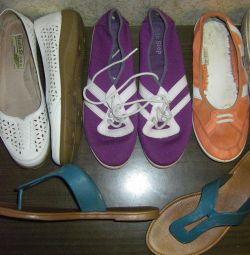 Обувь без каблука на лето 252-253мм