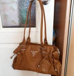 Kadınlar için deri çanta, doğal, indirimli fiyat