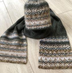 Комплект шапка, шарфик