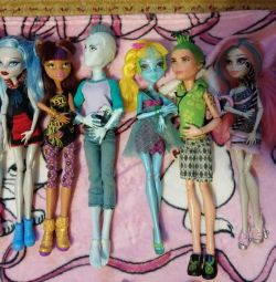 Monster High dolls. Collection Good condition.