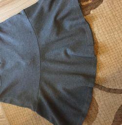 Юбка утеплeнная серого цвета