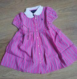 Elbise Ralph Lauren. Yeni, orijinal 24 ay