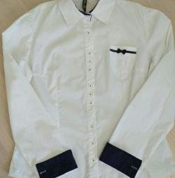 Γυναικείο λευκό πουκάμισο κλασικό Μ
