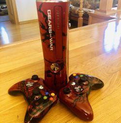 Xbox 360 slim 320Gb 2 геймпада ігри