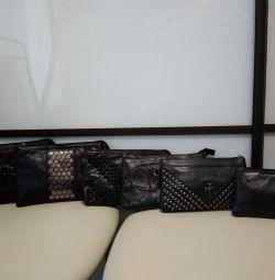 Новая сумка / клатч / кошелeк. Кожа