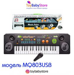 Piano musical instrument with microphone and mp3