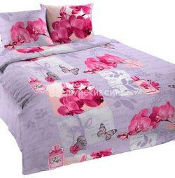 """Set de 1,5 sp. lenjerie de pat """"Sărut orhideea"""