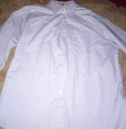 XXL πουκάμισα με μακριά μανίκια