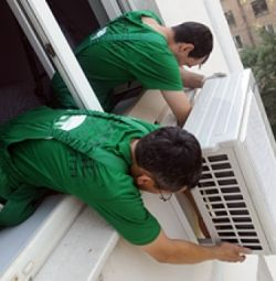 Installation of split systems (air conditioners).