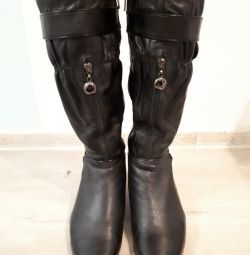 Boots leather + fur 38
