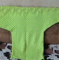 Knitted tunic, handmade