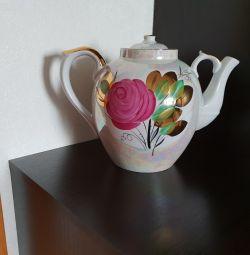 Большой трактирный чайник Дулево