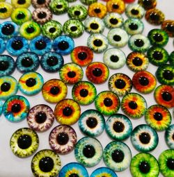 Cabochon glass (eyes) 10 mm