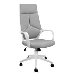 OFFICE CHAIR HM1054.21 GREY & WHITE FOOT