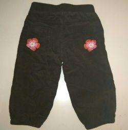 Pantaloni catifelati incalziti