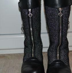 SUPER cizme calde de iarnă din piele naturală 33r