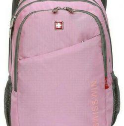 Swisswin swc0008-pembe sırt çantası, orijinal