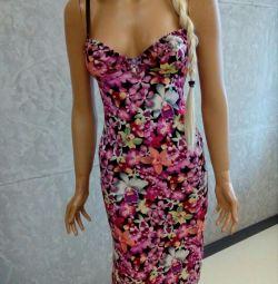 Φόρεμα-συνδυασμός μεταξιού
