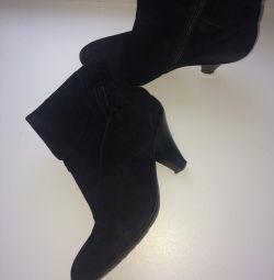 Suede μπότες αστράγαλο